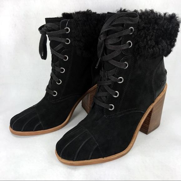 783c94306c5 NEW Ugg Women's Jaxon Boots Black Suede Size 10